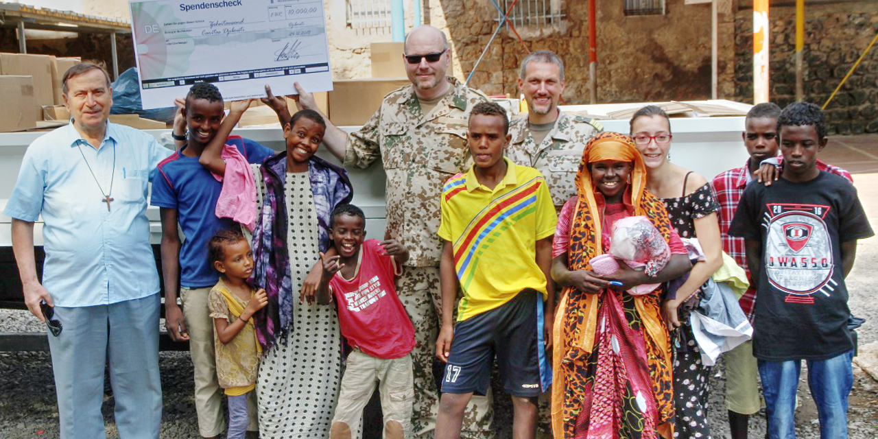Spendenübergabe an die Caritas Djibouti