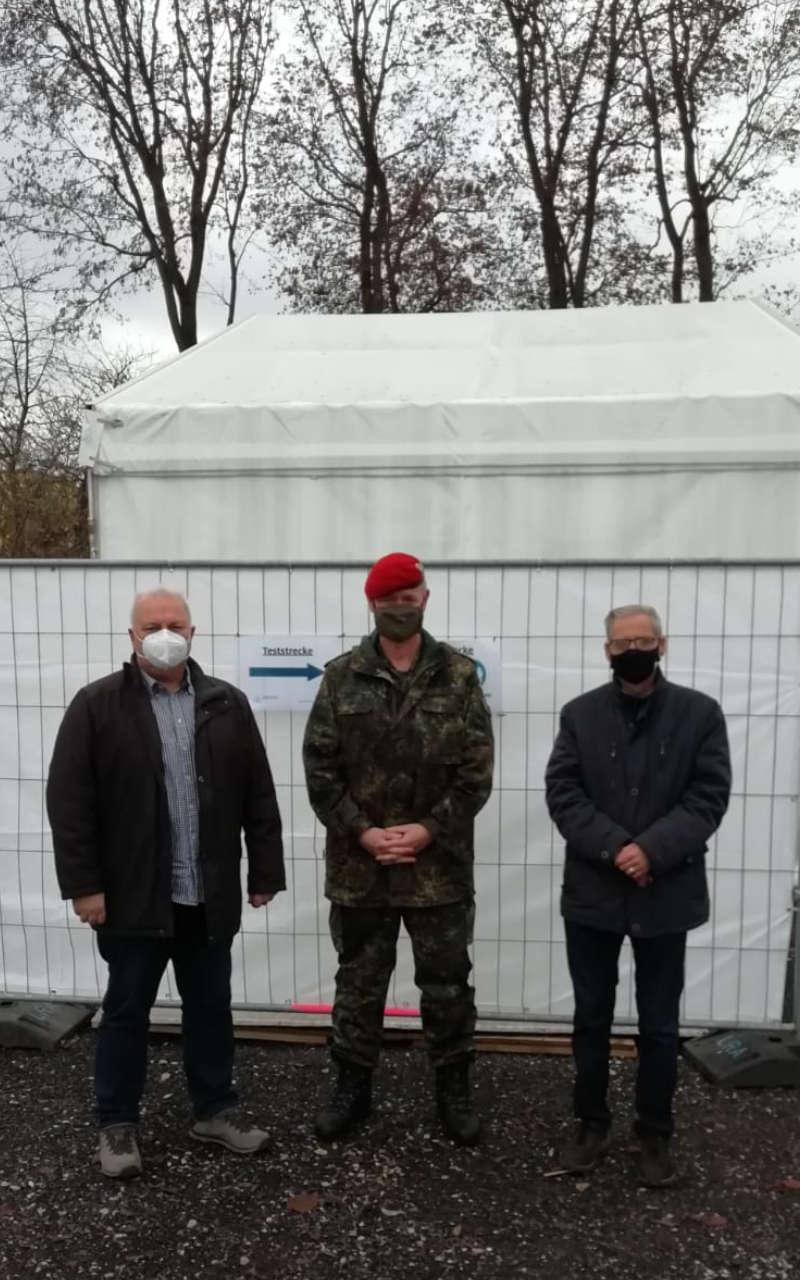 v. li. nach re.: Diakon Herbert Sturm, OTL Gereon Gräf, Dr. Roland Brey
